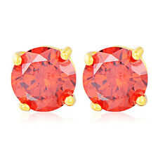 Yellow Gold Filled Pink Crystal Geometry Korean Stud Earrings Fashion Jewelry