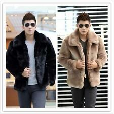 New Winter Fashion Men Faux Fur Jacket Soft and Comfortable Warm Rabbit Fur Coat
