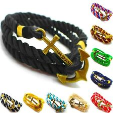 ANCHOR BRACELET SEAMAN BLACK MEN'S WOMEN'S BRACELETS RETRO CHAIN BRACELET ROPE