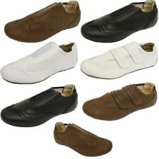 Mens Trainers Casual Fuax Leather Slip-on Velcro Flat Fashion Shoes Size 6-11