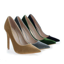 Darby Pointy Toe Velvet Stiletto Heel Dress Pumps