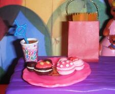 Rement Mickey & Minnie Mouse Bday Donuts Lot fits Loving Family Dollhouse Doll