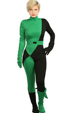 XCOSTUME Kim Possible Shego Costume Halloween Cosplay Party Jumpsuit Zentai