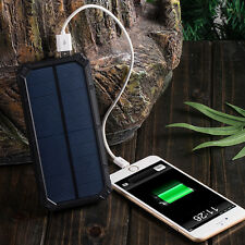 Solar Charger 6 LED Flashlight Solar Power Dual USB External Battery Charger New