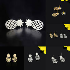 1 Pair Sweet Fashion Hollow Design Women Lady Pineapple Earring Ear Stud Jewelry
