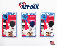 "Key-Bak Round Mini-Bak Retractable Belt Clip Badge Holder 36"" Nylon Cord / 4 oz"