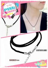 5Pcs PU Leather Chains Necklace Charms Findings String Cord 18'' DIY