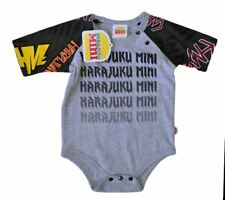 NWT HARAJUKU MINI 'TODDLERS' BY GWEN STEFANI ARMY BODY SUIT ONSIE OLIVE & GREY