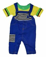 NWT HARAJUKU MINI 'TODDLERS' BY GWEN STEFANI OVERALLS ROMPER W/TEE BLUE & YELLOW