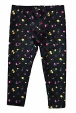 NWT HARAJUKU MINI 'TODDLERS' BY GWEN STEFANI FLORAL PRINT ALLOVER LEGGINGS BLACK