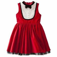 NWT HARAJUKU MINI 'GIRL'S' BY GWEN STEFANI SLEEVELESS TUXEDO DRESS RED VELVET
