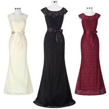 KK V-Back Lace Evening Prom Party Wedding Cocktail Formal Women Sexy Gown Dress