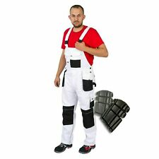 Bib and Brace Overalls Painters Decorators Work Trousers Knee Pad Multi Pocket