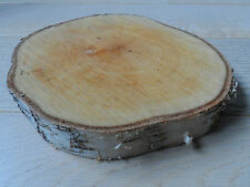 Rustic Wedding table decorations centre piece silver birch wood log appx 8