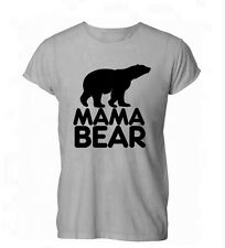 Mama Bear Mum Mom Mothers Day Gift Womens Mens T-Shirt Grey