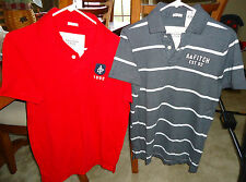 NWT Abercrombie & Fitch mens muscle polo short sleeve shirt large red or gray