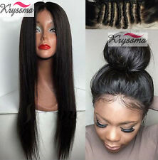 Indian Remy Human hair Lace Front Wigs African Americans Glueless Silky Straight