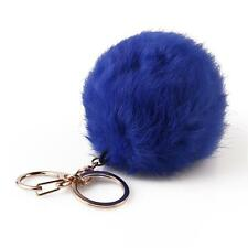 New Fashion Cute Soft Fur Ball Handbag Key Chain Cell Phone Car Pendant Key Ring