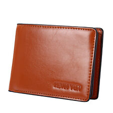 Mens Faux Leather Wallet ID Credit Card Holder Vintage Casual Pocket Purse