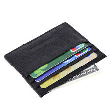 Men Genuine Leather Slim Credit Card Holder ID Business Wallet