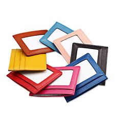 Women's Leather Slim Credit Card Holder ID Wallet Small