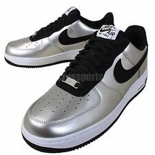 Nike Air Force 1 Silver Black Mens Casual Shoes Classic AF1 Sneakers 488298-054