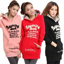 Women Letter Printed Sweatshirt Casual Hoodies Long Sleeve Sport Tops Shirt Coat