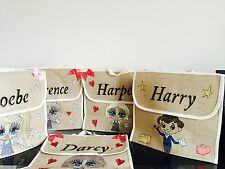 GIRLS PERSONALISED School BOOK BAGS ANY NAME ANY UNIFORM / STYLE /GIFT/music