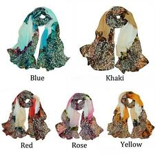 Fashion New Women's Chiffon Scarf Leopard Print Long Shawl Wrap Pashmina X4B3