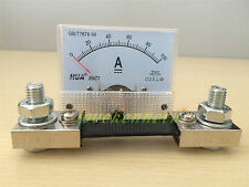 85C1 Analog Amp Panel Meter Current Ammeter From DC0-30A To DC 0-200A With Shunt