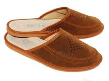 Men`s Handmade 100% leather slippers,mules, sandals 7-11,5, 41-46 (Hausschuhe)