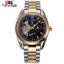 Luxury Mens Mechanical Watches Day Moonphase Auto Sport Quartz Wrist Watch