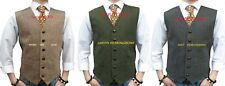 MENS WOOL  TWEED HERRINGBONE WAISTCOAT VEST DONEGAL  - ALL SIZES S M L XL XXL