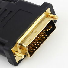Top DVI Male to HDMI Female adapter Gold-Plated NEW M F Converter For HDTV LCD