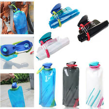 Folding Sport Water Bottle Portable Foldable OutdoorSport Portable Water Bag NEW