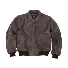 Alpha Industries Leather CWU / 45P Jacket Brown