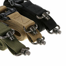 MS4 Style 1 & 2 Point Mission Universal Tactical Sling Rifle AR AK Multi-Color
