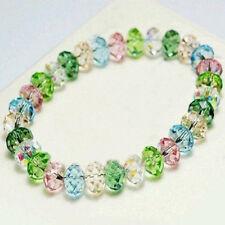 Newest Crystal Faceted Loose beads Bracelet Stretch Bangle Girl's Jewelry Gift