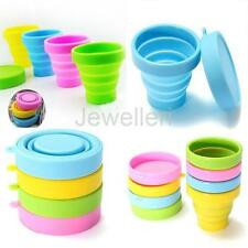 170ml Silicone Retractable Collapsible Folding Cup Outdoor Travel Camping Mug