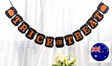 Happy Halloween Trick or Treat Party Hanging Banner Decoration Flag Garland