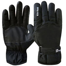 Winter Leather Palm Biker Motorcycle Motorbike Thermal Windproof Gloves
