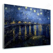 CANVAS +GIFT Starry Night Over The Rhone Vincent Van Gogh Painting Wall Art