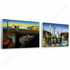 CANVAS +GIFT Persistence Memory Swans Elephants Melting Clock Salvador Dali