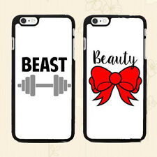 Romantic Couple Phone Case, Beast & Beauty Print WHITE COVER for Smart Phone