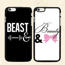 Romantic Couple Phone Case, Beast & Beauty Matching Print Cover For Smart Phone