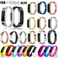 Milanese Stainless Steel Silicone Watch Band Strap For Fitbit Alta Smart Watch