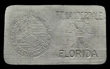 JJ04163 GREAT 1976 BSA ***SCOUTMASTERS CAMPOREE*** BOY SCOUTS FLORIDA BUCKLE