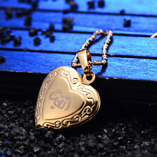 Childrens Cross Locket Charms Heart Frame Pendant Yellow Gold Filled