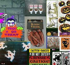 Halloween Party DECORATIONS Wall decoration treat bags Severed fingers & more