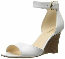 Nine West FARLEE LEATHER Womens Farlee Leather Wedge Sandal- Choose SZ/Color.